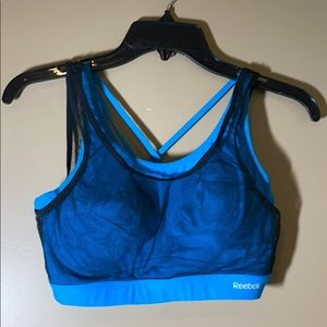 Reebok small sports bra with mesh overlay